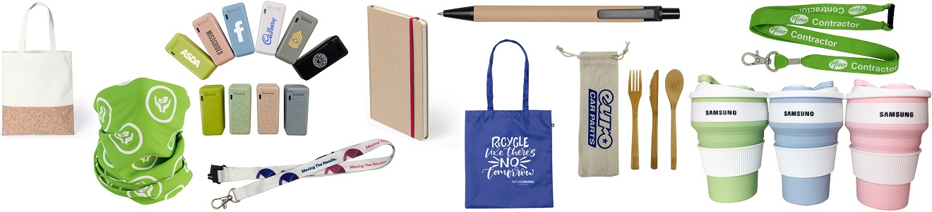 Sustainable merchandise and promotional items