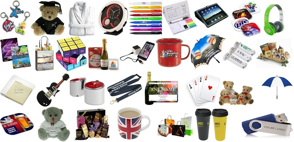 Wide range of promotional merchandise available